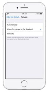 iPhone Safe Driving Mode